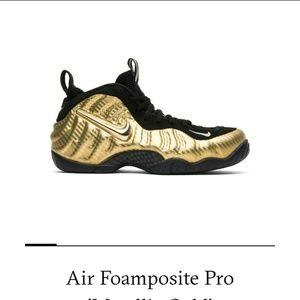 "Nike air Foamposite Pro ""Metalic Gold"""
